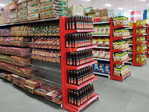 lắp đặt kệ đôi siêu thị